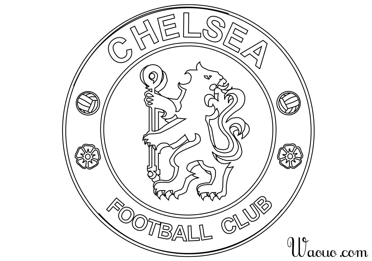 Coloriage Foot Ol.Coloriage Logo Chelsea Football A Imprimer Et Colorier