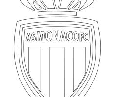 Coloriage logo Monaco
