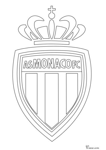 coloriage logo as monaco 224 imprimer et colorier