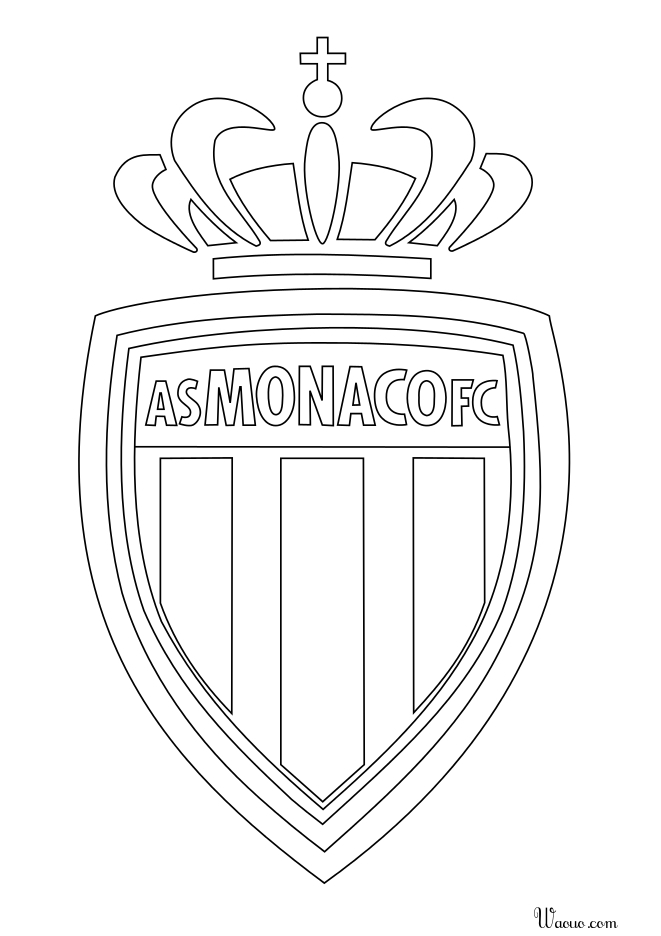 coloriage logo as monaco 224 imprimer et colorier