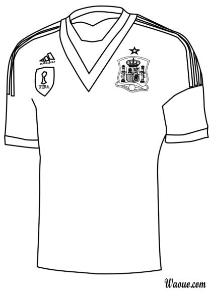 Coloriage maillot Espagne 2013