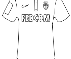 Coloriage maillot Monaco