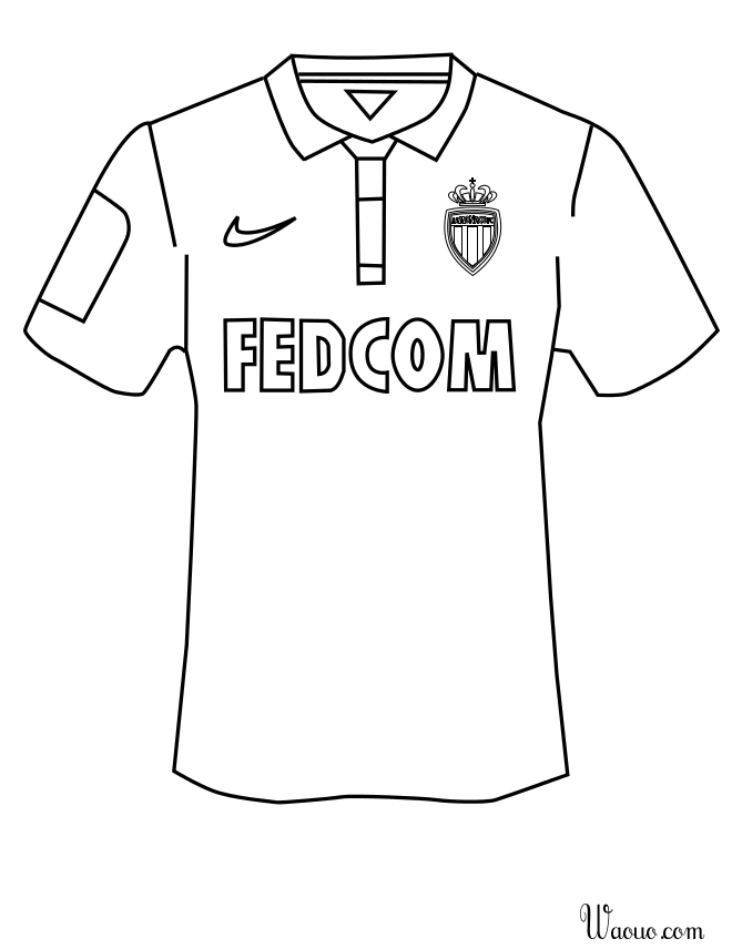 coloriage maillot nike 2018 2019 a imprimer