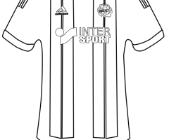 Coloriage maillot OM 2016