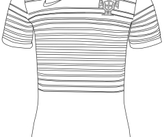 Coloriage maillot Portugal