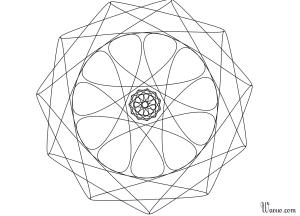 Coloriage Mandala difficile
