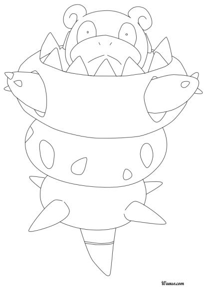 Flagadoss coloriage m ga flagadoss pokemon imprimer - Coloriage pokemon brasegali ...