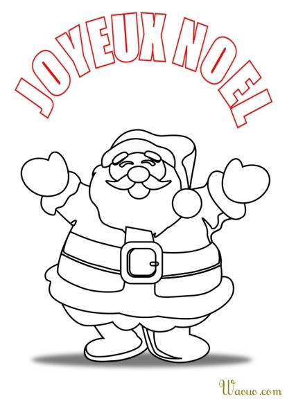 Coloriage Pere Noel joyeux