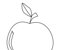 Coloriage pomme