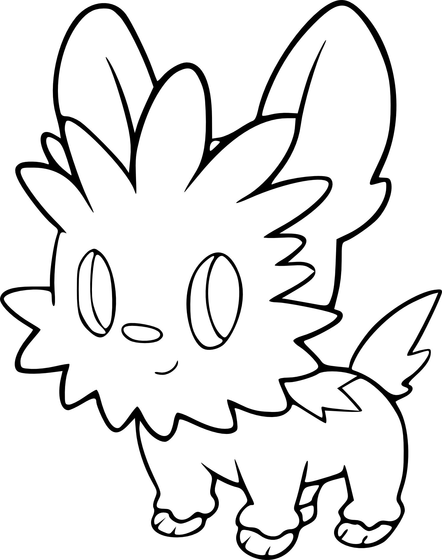Coloriage Ponchiot Pokemon A Imprimer Et Colorier