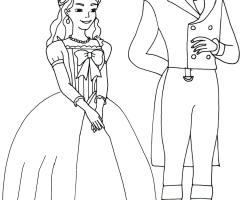 Coloriage princesse Sofia Prince