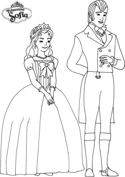 Coloriage princesse sofia et prince imprimer et colorier - Princesse sofia coloriage ...