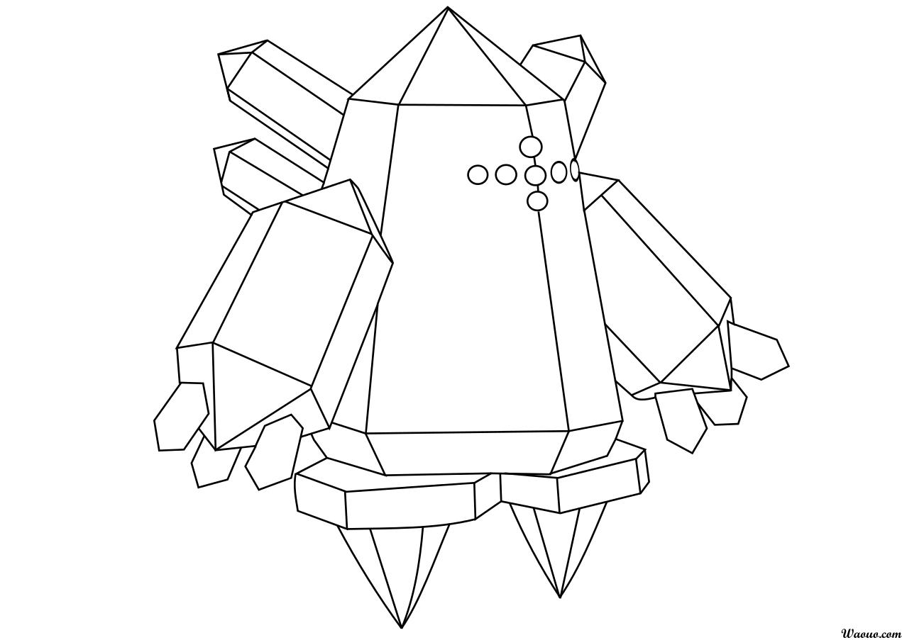 Coloriage regice pokemon l gendaire imprimer et colorier - Dessin pokemon legendaire ...