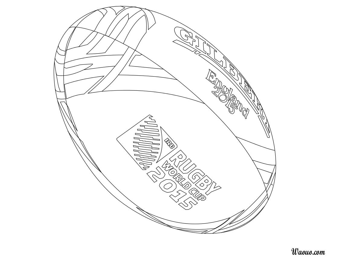 Coloriage Coupe du monde de rugby 32 à imprimer