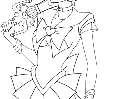 Coloriage Sailor Uranus