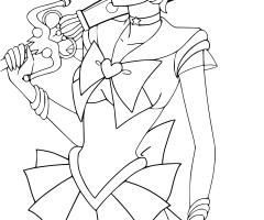 Coloriage Sailor Uranus
