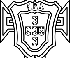Coloriage sigle Portugal
