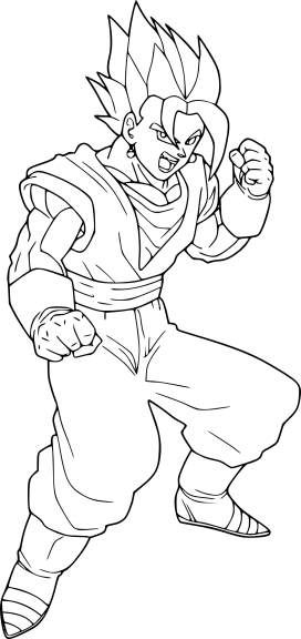 Coloriage vegeto normal dbz imprimer et colorier - Dessin de vegeta ...