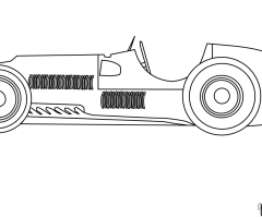 Coloriage voiture course Ferrari