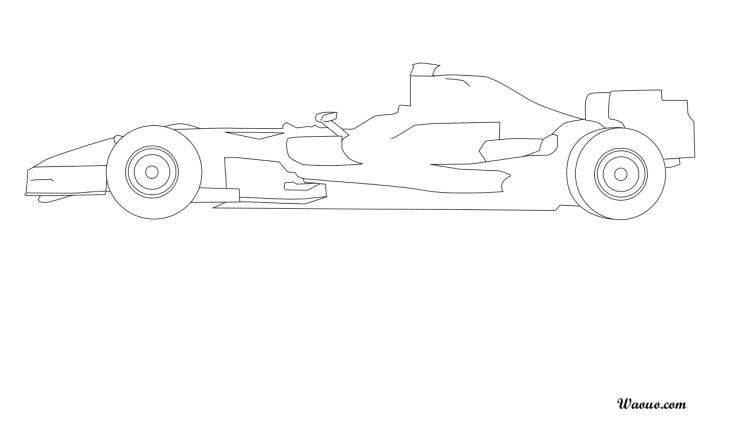 Coloriage voiture de course F1