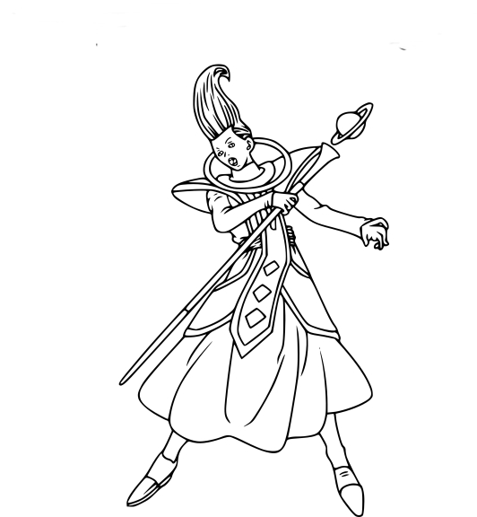 Coloriage Whis DBZ