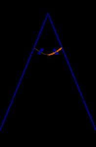 Construire la bissectrice d'un angle