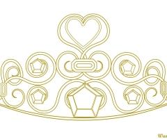 Dessin couronne princesse