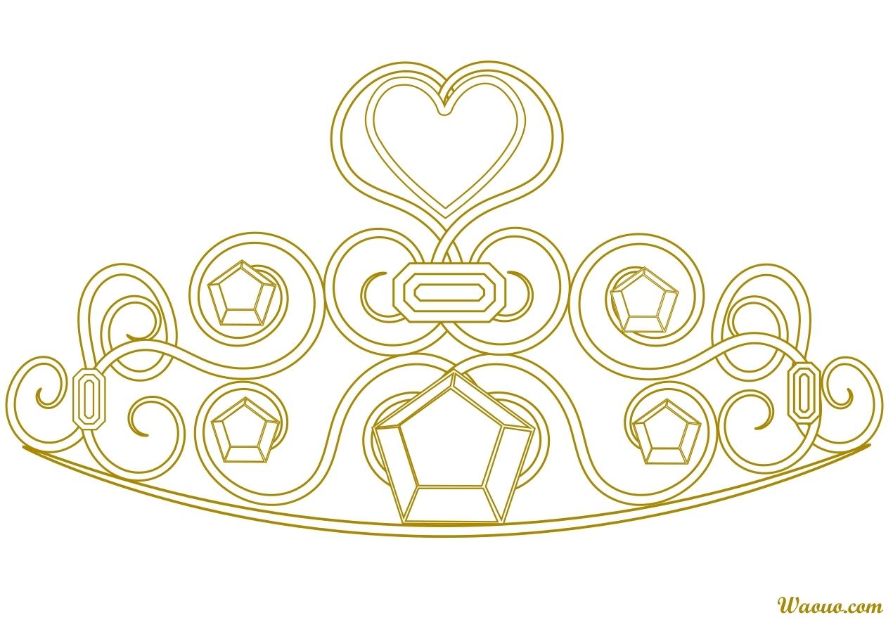 Bien-aimé Coloriage couronne de Princesse gratuit à imprimer PW63