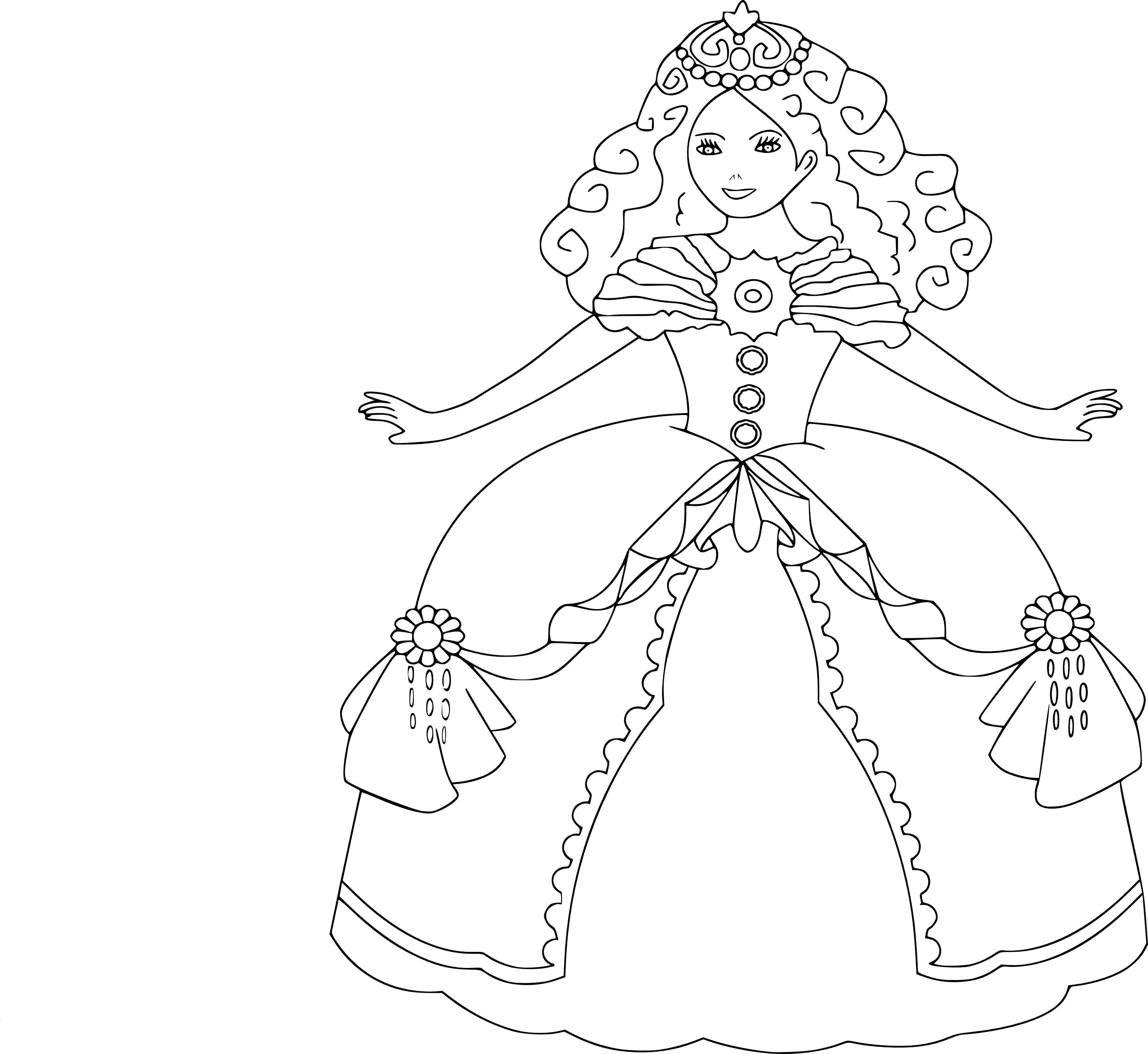 Coloriage princesse gratuit imprimer et colorier - Coloriage tractopelle a imprimer gratuit ...
