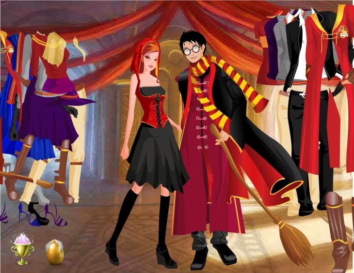 Harry Hermione habillé