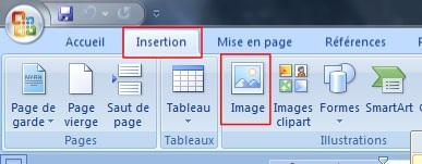 Insérer une image dans un fichier Word
