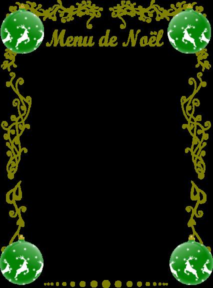 Cadre menu de Noël