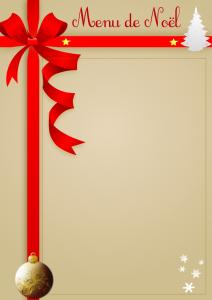 Menu de Noël à réaliser vous même