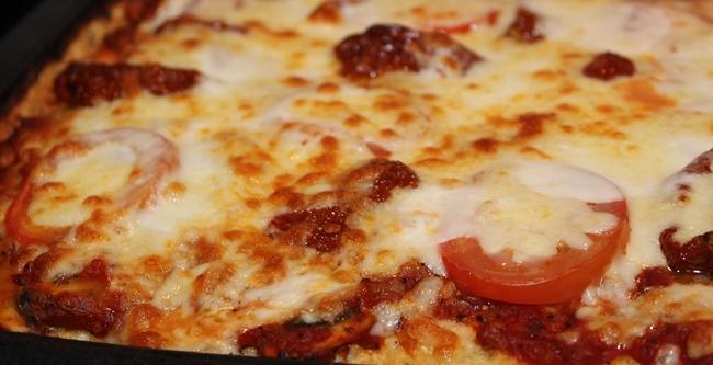 Pizza sans gluten choux fleur