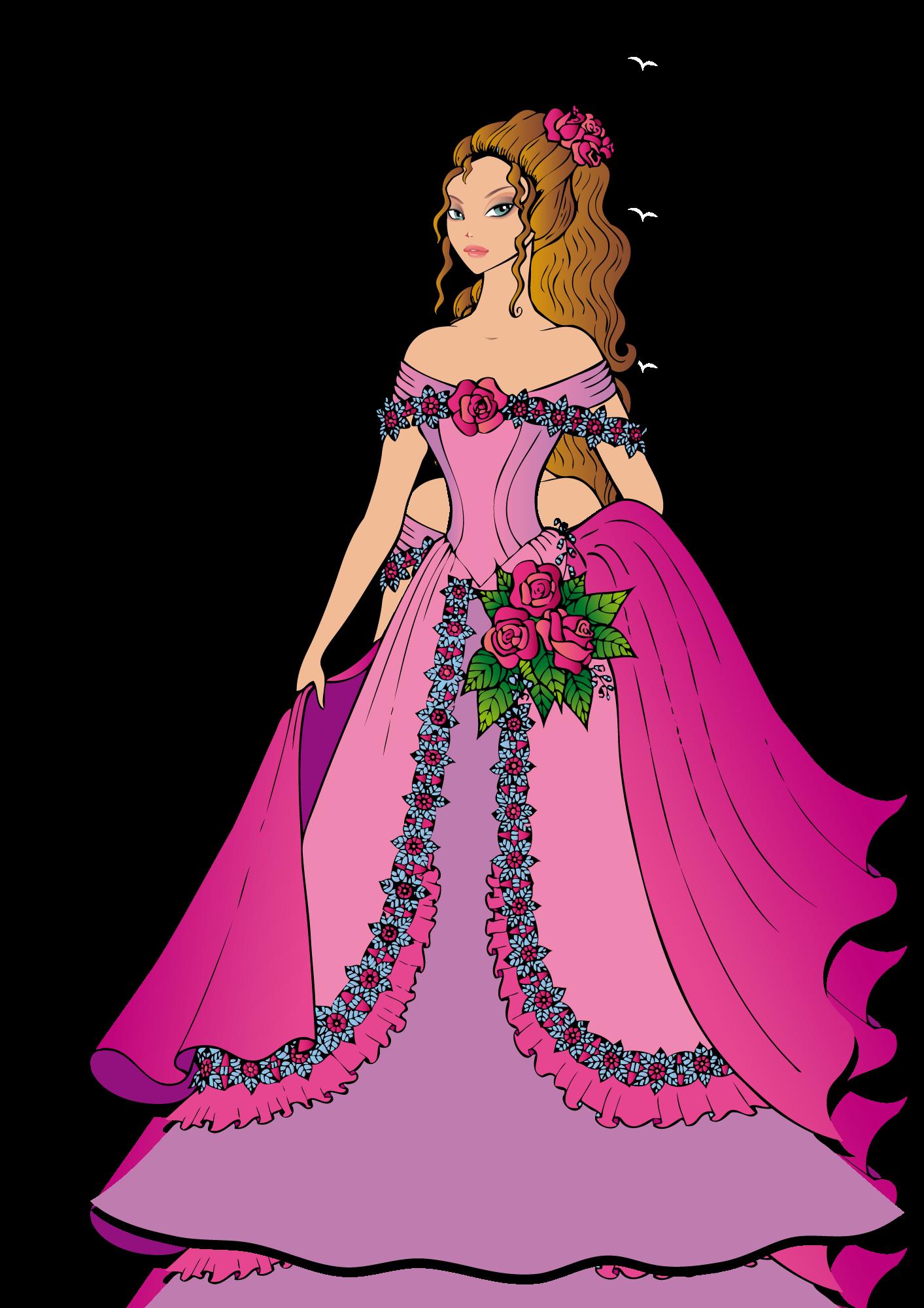 Coloriage princesse gratuit imprimer et colorier - Dessin de robe de princesse ...
