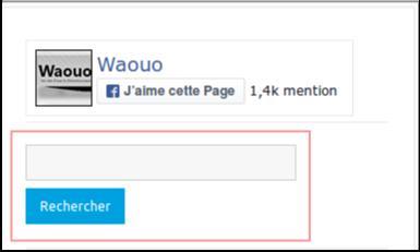 Champ de recherche Waouo