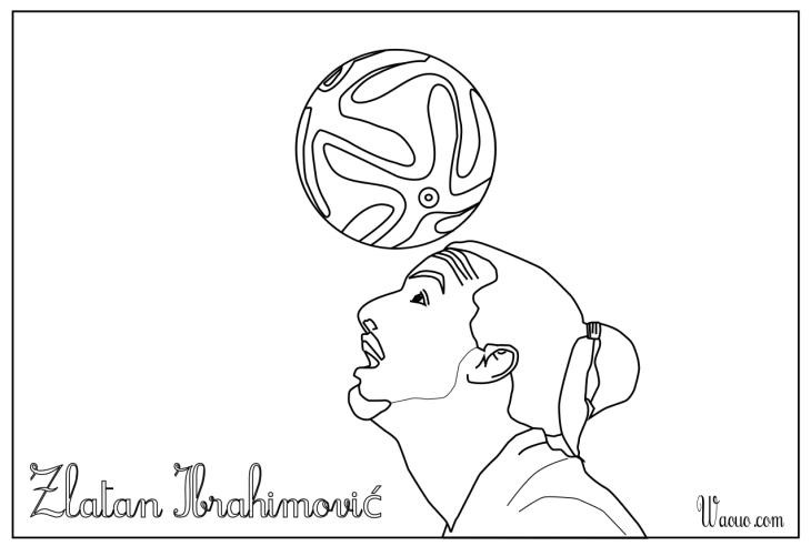 Zlatan Ibrahimovic coloriage