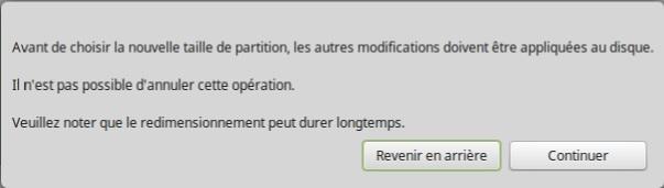 Linux Mint application partition