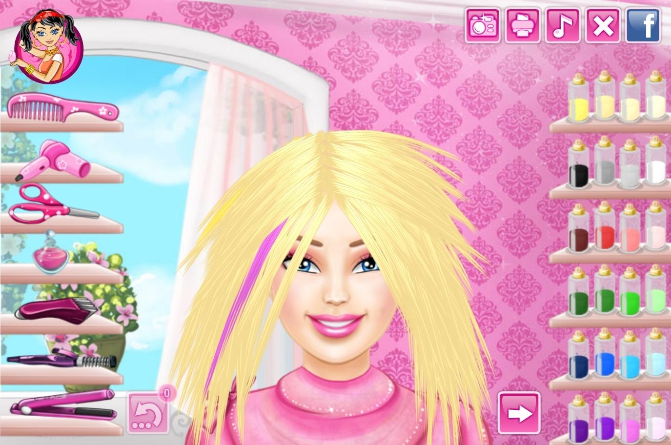jeu barbie vraie coupe de cheveux gratuit en ligne. Black Bedroom Furniture Sets. Home Design Ideas