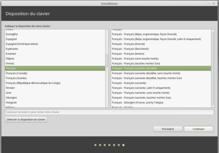 Linux Mint clavier français