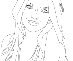 Coloriage Bella Thorne 2016