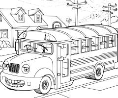 Coloriage bus ecole