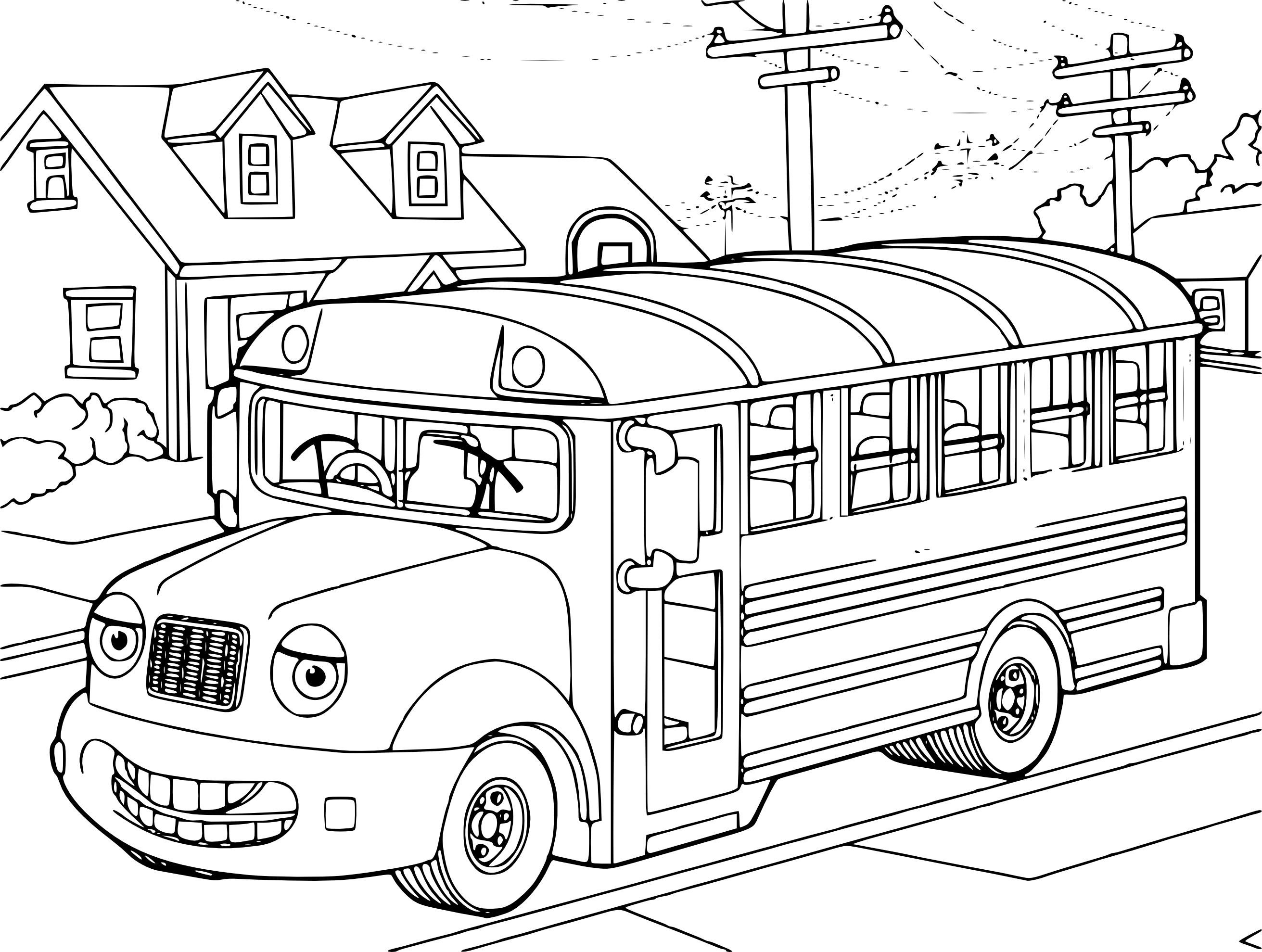 Élégant Dessin à Colorier Bus Anglais