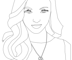 Coloriage Dove Cameron