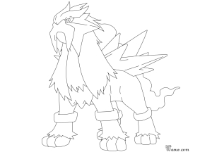 Coloriage Entei