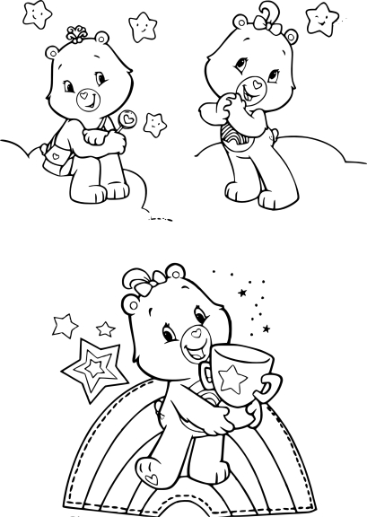Coloriage fille Bisounours