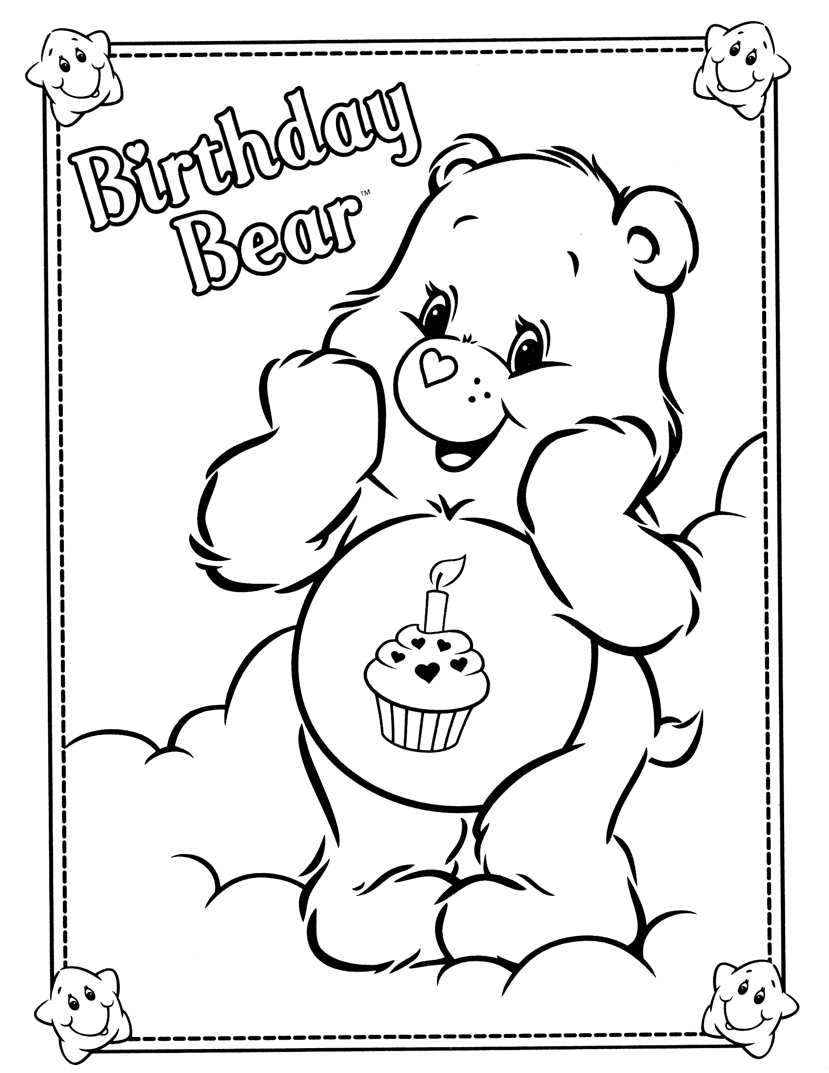 littlecare bear coloring pages - photo#11