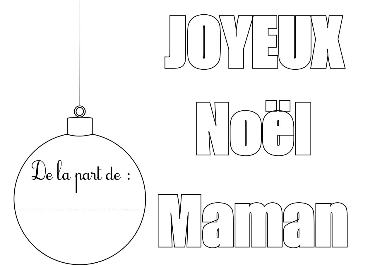 Coloriage joyeux no l maman imprimer et compl ter - Dessin joyeux noel ...