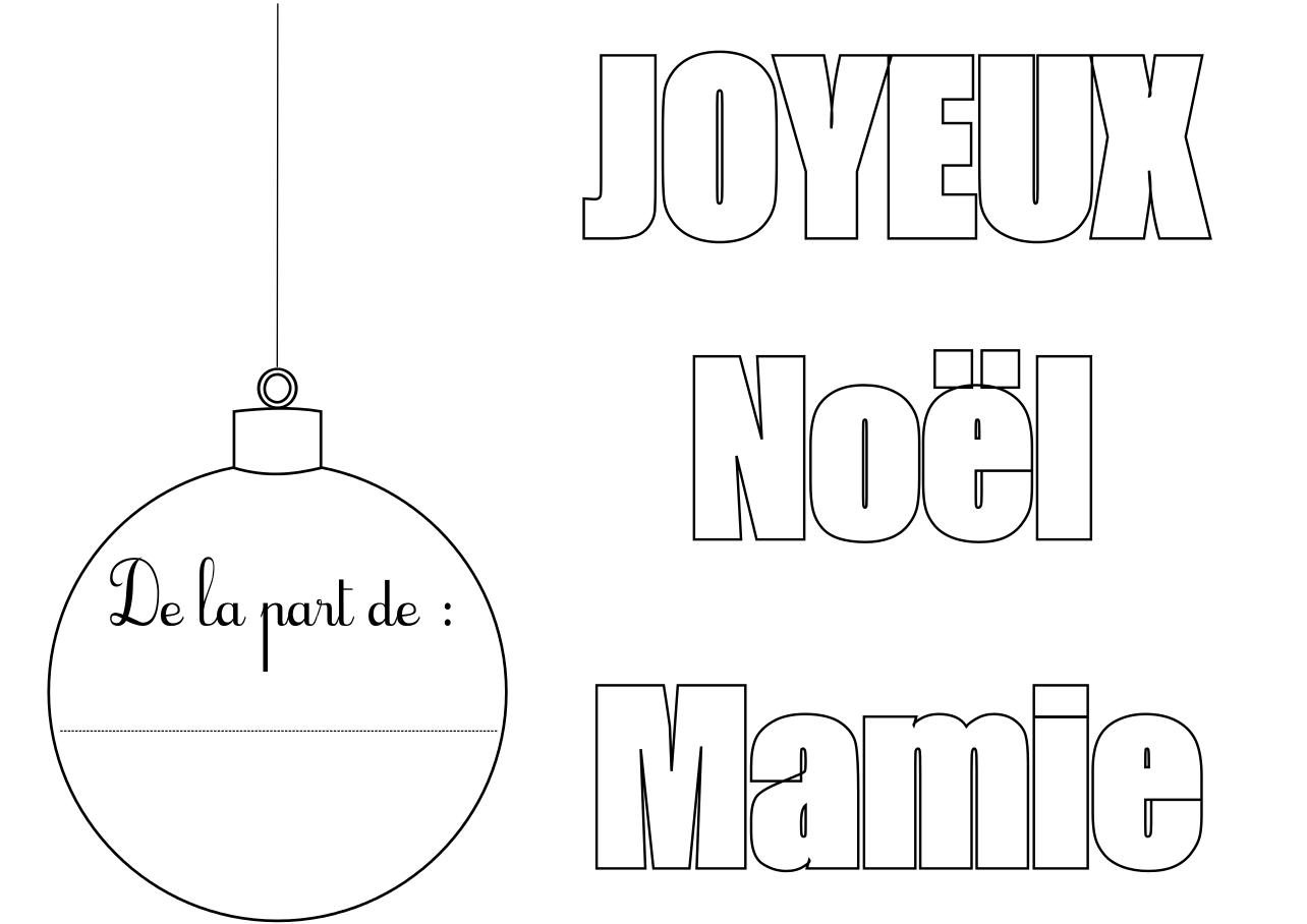 Coloriage Joyeux Noël Mamie à Imprimer Et Compléter