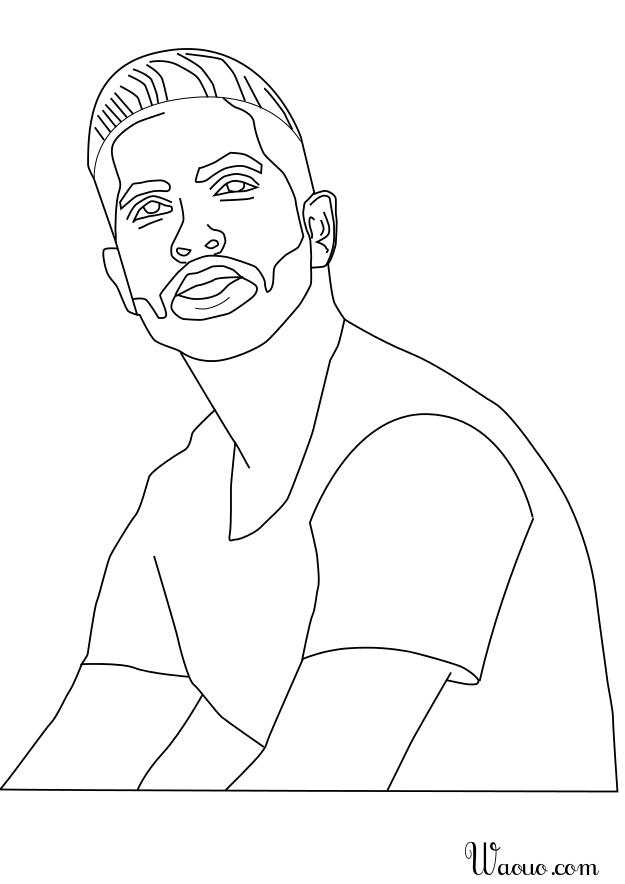 Préférence Coloriage chanteur Kendji Girac à imprimer et colorier QI49